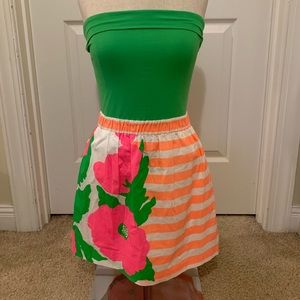 Lilly Pulitzer Bandeau Fit n Flare Dress